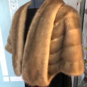 mink fur stole MC Elroy furs
